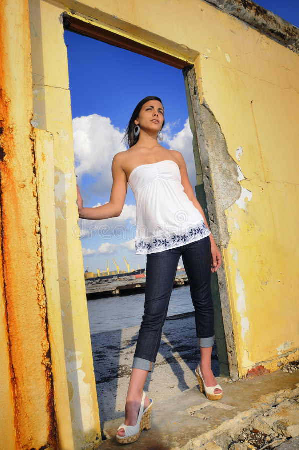 Teen fashion model royalty free stock photography