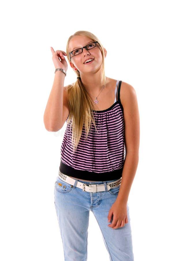 Teen Flickaidé Royaltyfria Foton