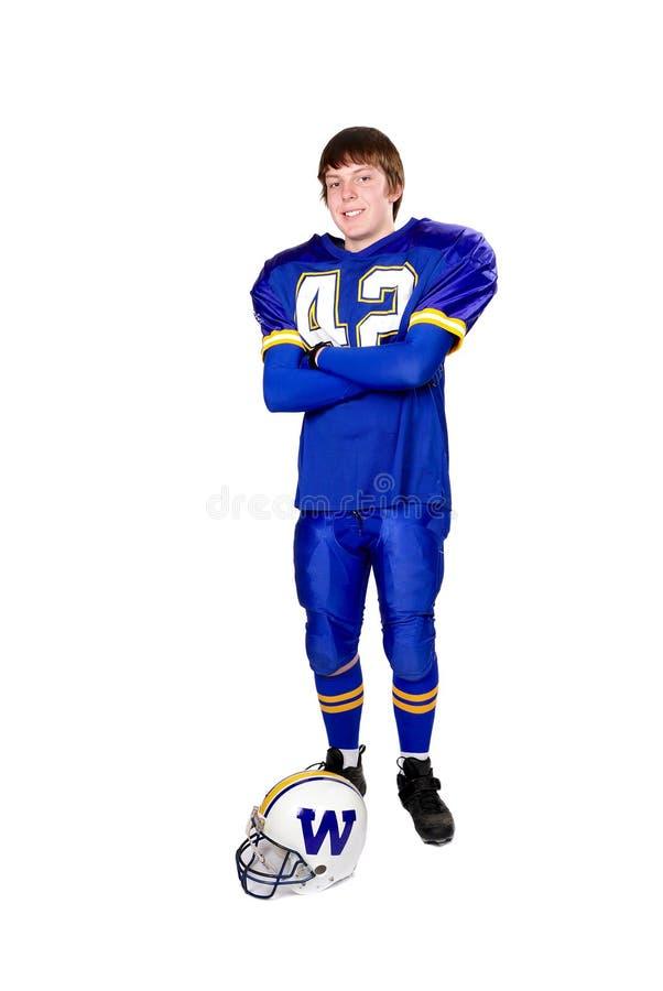 teen fotbollsspelare arkivfoto