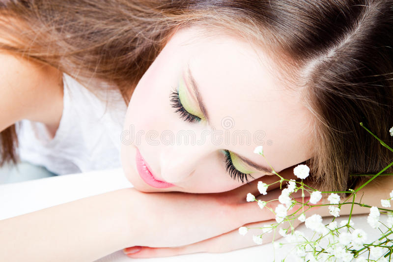 Download Teen girl stock photo. Image of hand, eyes, fresh, teen - 18919226