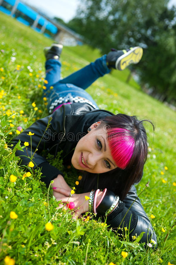 Teen girl royalty free stock photography