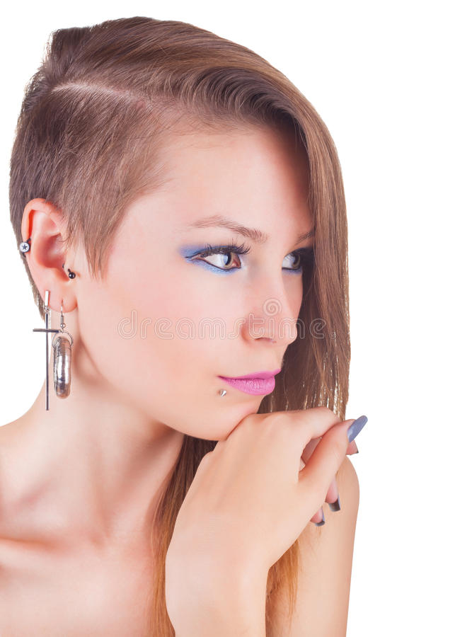 Download Teen girl stock photo. Image of face, funny, jewelery - 28400450