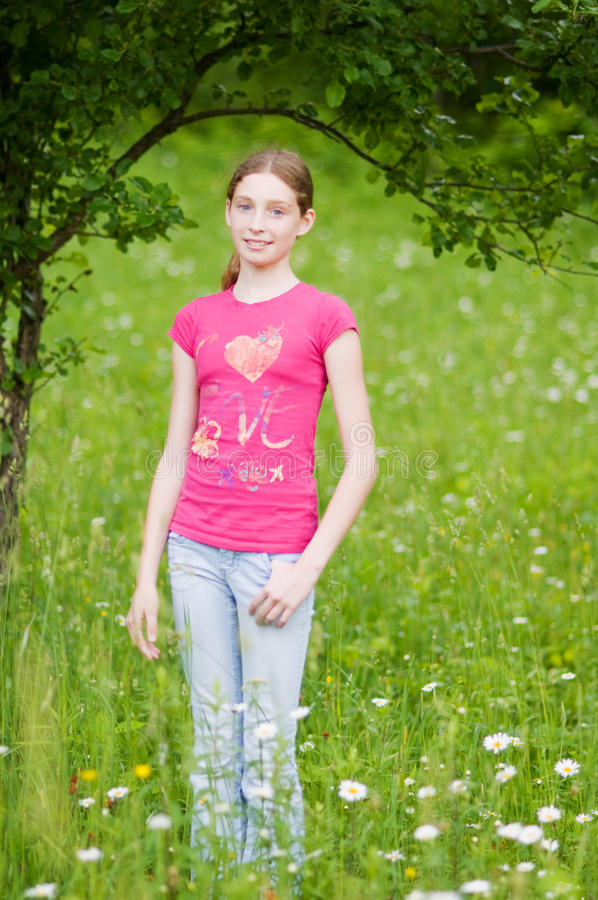 Download Teen girl stock photo. Image of field, outdoors, standing - 28532878