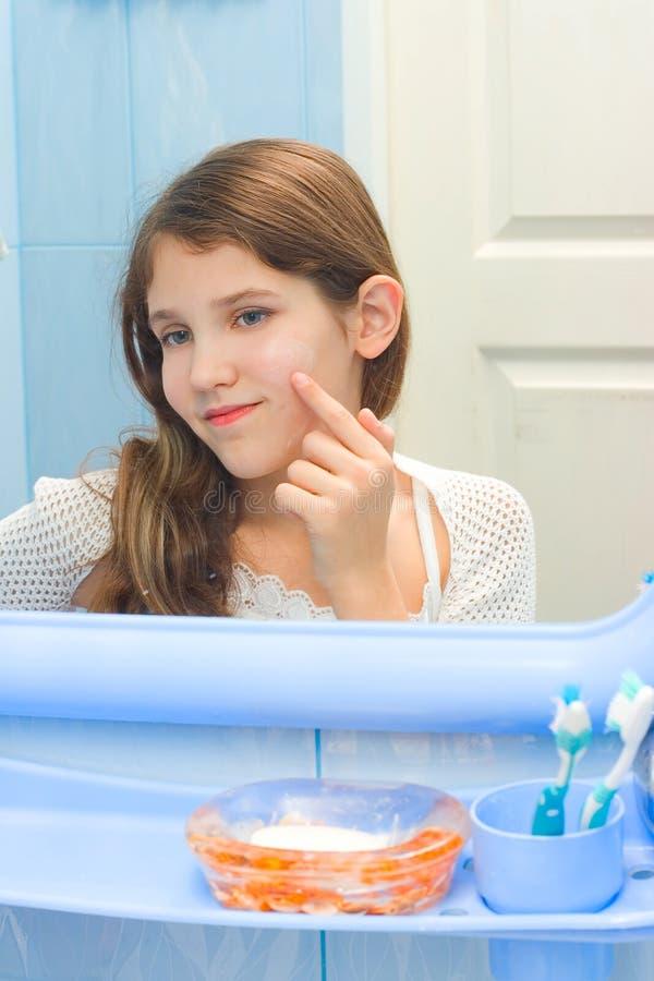 Teen Girl In Bathroom Stock Image - Image: 9971331