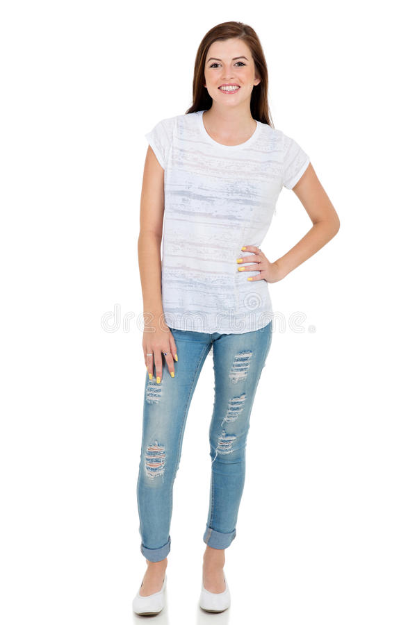 teen girl casual clothes royalty free stock photography