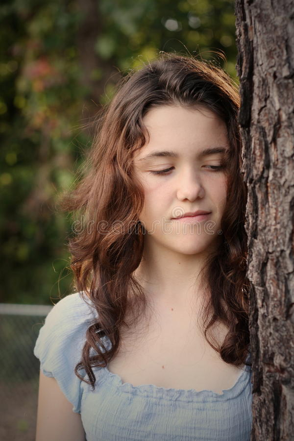 Download Teen girl depressed stock image. Image of down, anxiety - 10665155