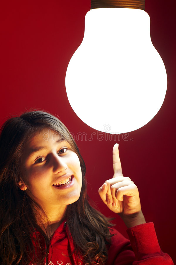 Download Teen Girl Has The Greatest Idea Stock Photo - Image: 4935344