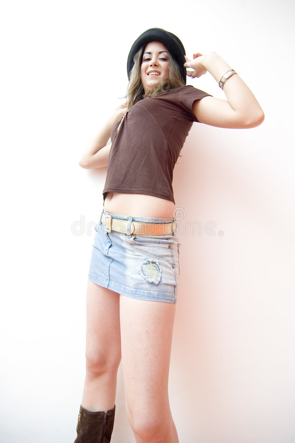 Teen Girl in Hat stock photos