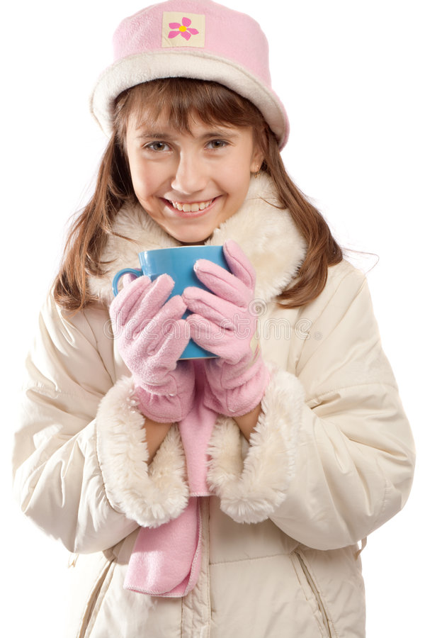 Download Teen Girl Holding Cup With Tea Stock Photo - Image: 7254134