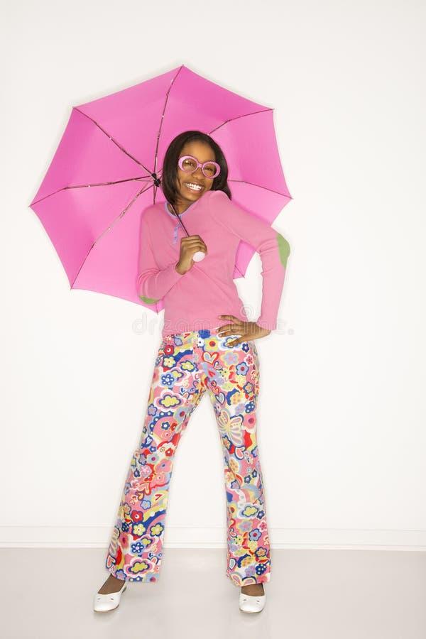 Free Teen Girl Holding Umbrella. Stock Photo - 2044270