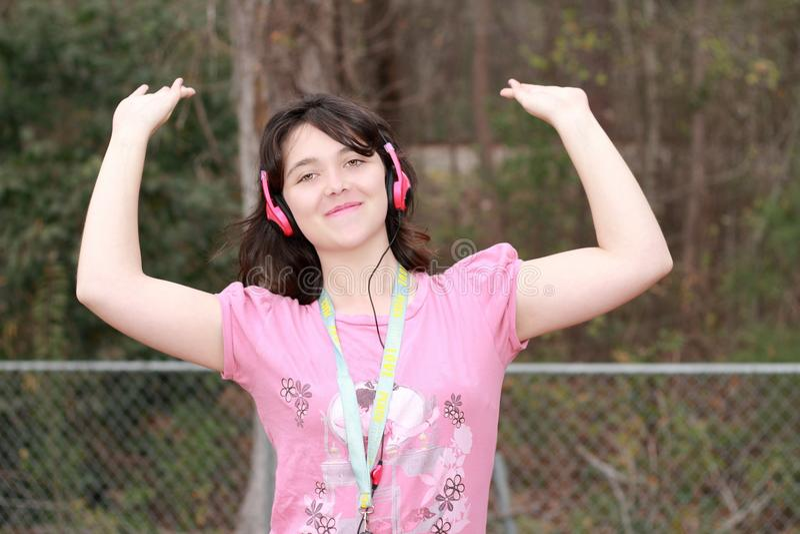 Loving music girl royalty free stock images