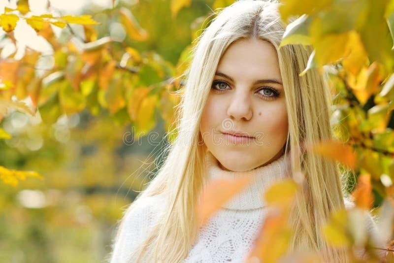 Teen girl outdoors stock photo