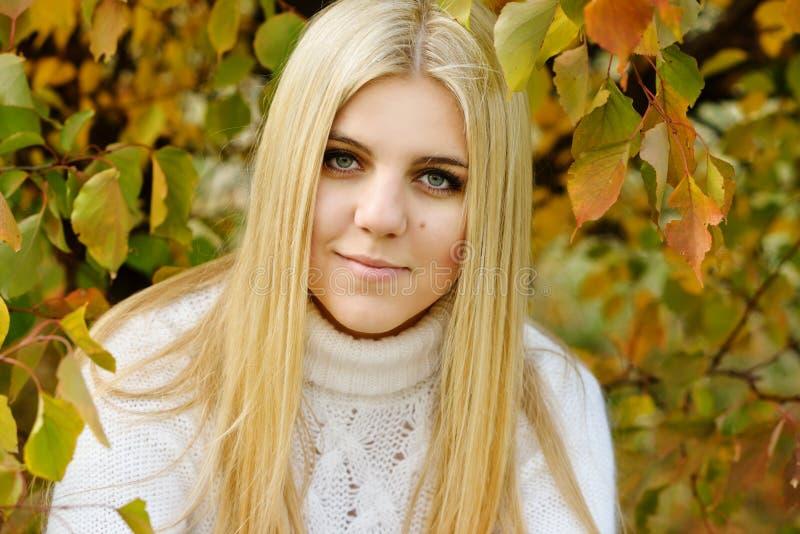 Teen girl outdoors royalty free stock photos