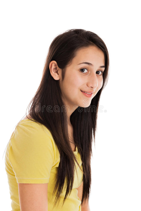 Download Teen girl portrait stock photo. Image of happy, mixed - 25066158