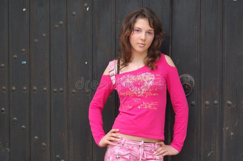 Teen girl posing royalty free stock photography