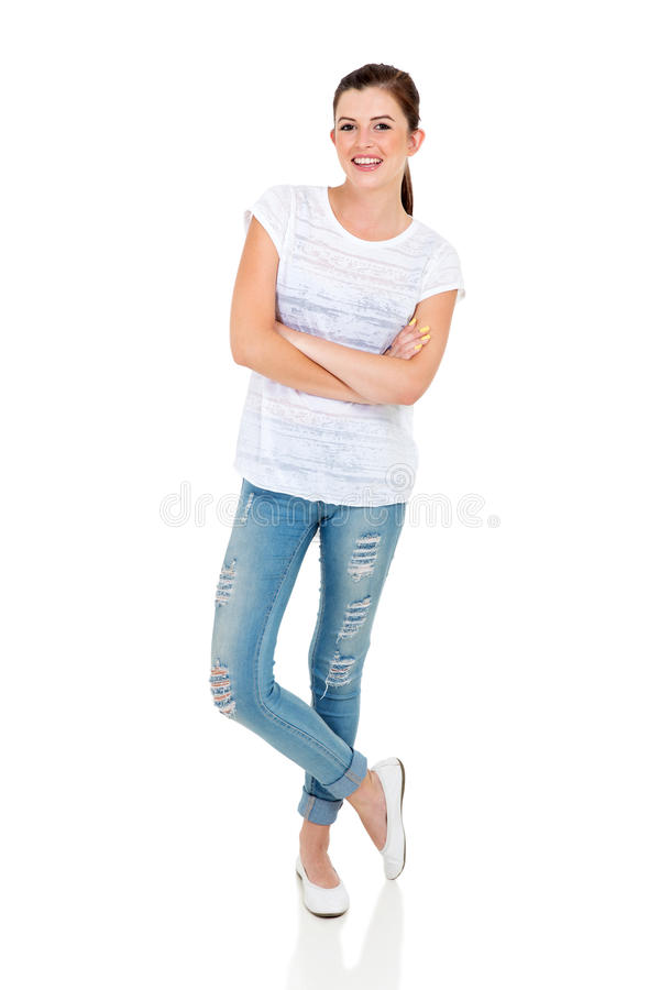 Teen girl posing royalty free stock photo