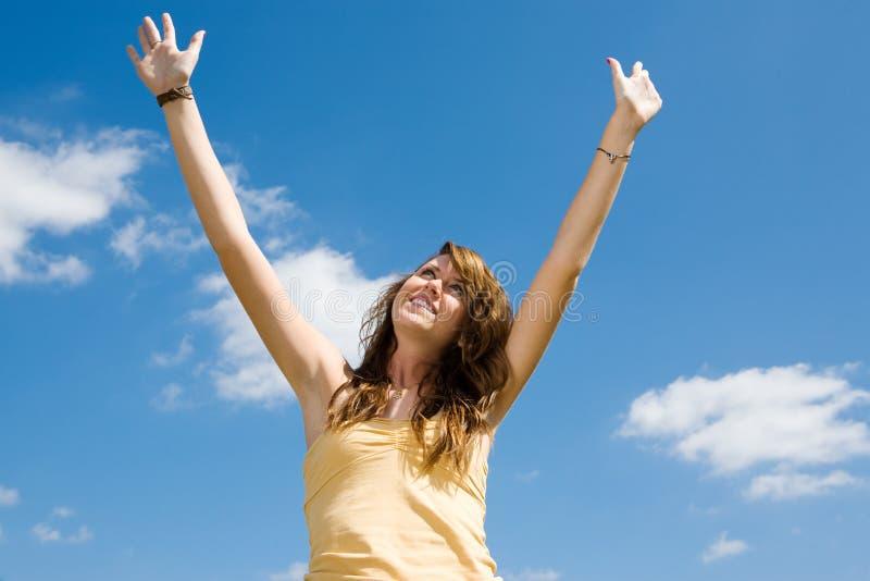 Teen Girl Praise stock photos