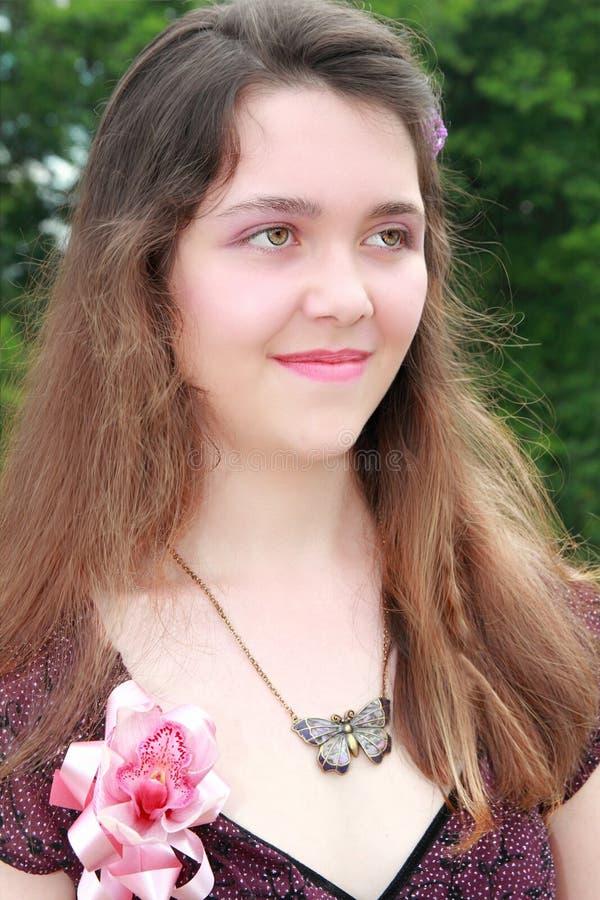 Teen girl prom stock image