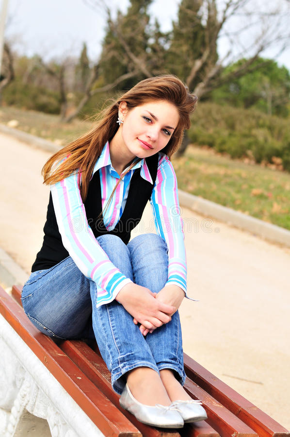 Free Teen Girl Resting In The Park Royalty Free Stock Image - 13544566