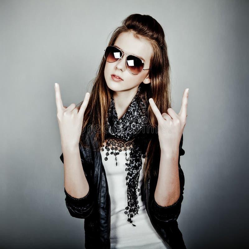 Teen Girl Rock Stock Image
