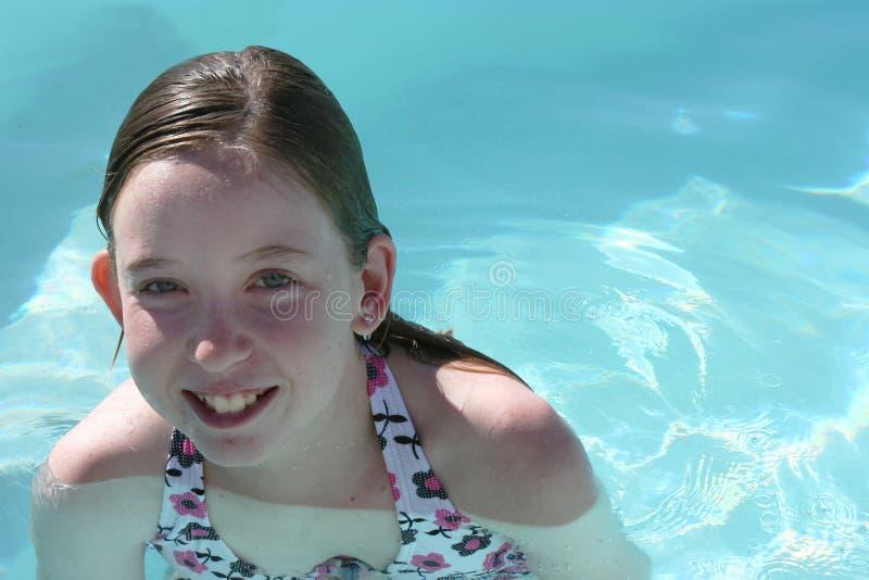 Download Teen girl swimming stock image. Image of water, swim, teenager - 5377105