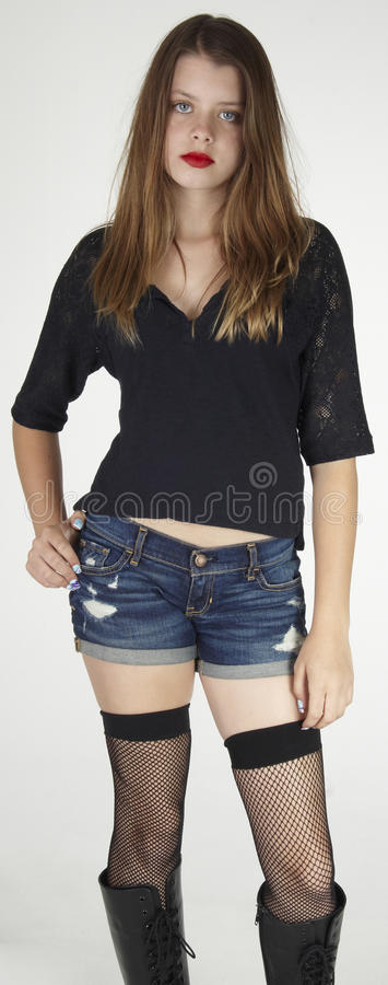 Download Teen Girl in Tough Look stock image. Image of goth, mean - 32507305