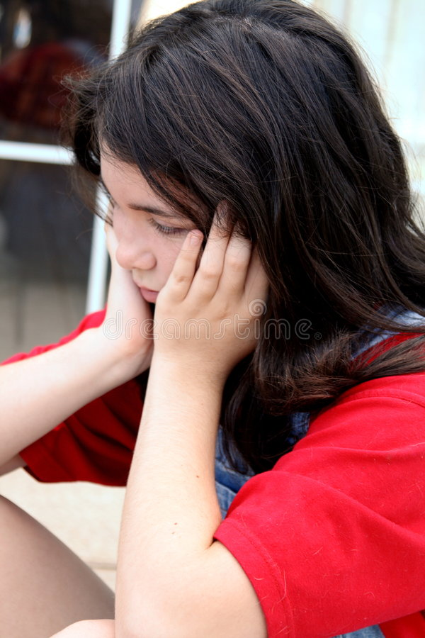 Download Teen girl upset stock photo. Image of depression, emotional - 6154614