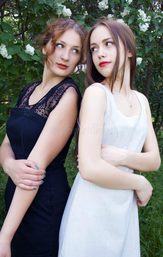 Teen girls stock image