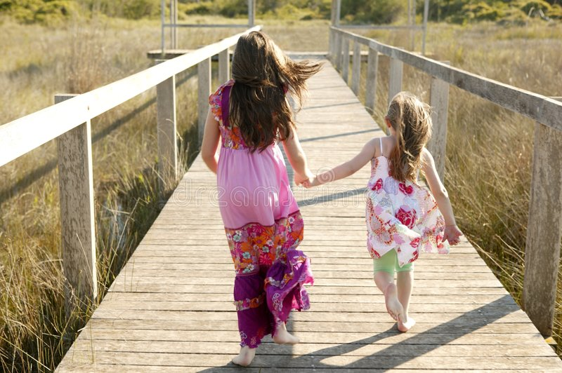 Download Teen Girls Running Outdoor At The Park Stock Photo - Image: 8993504