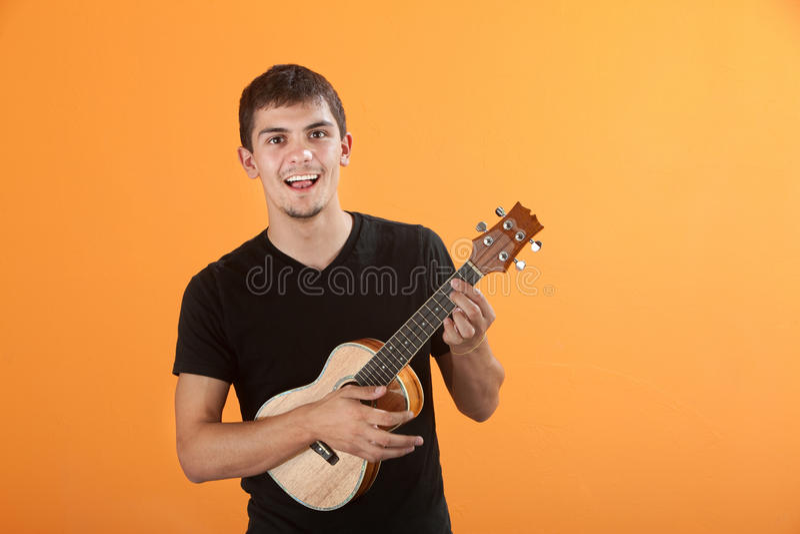 teen gitarrist fotografering för bildbyråer
