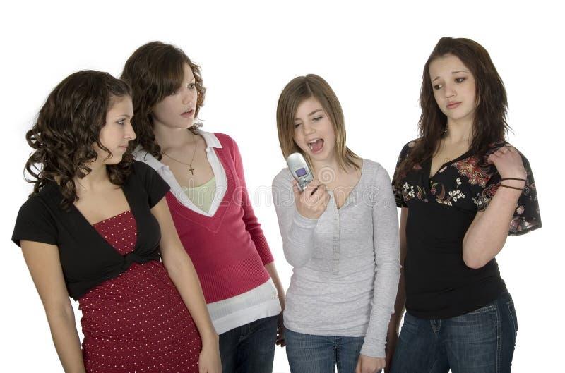 Teen gossip stock photography
