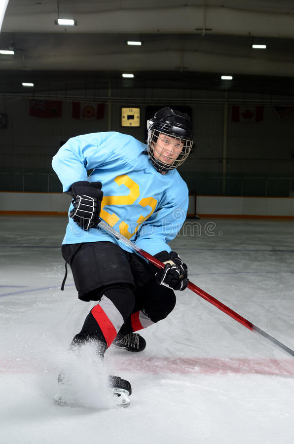 Teen Hockey Player