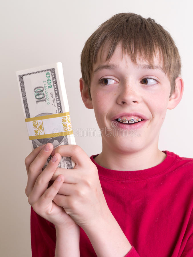 Free Teen Holding A Lot Of Money Stock Photos - 24838673