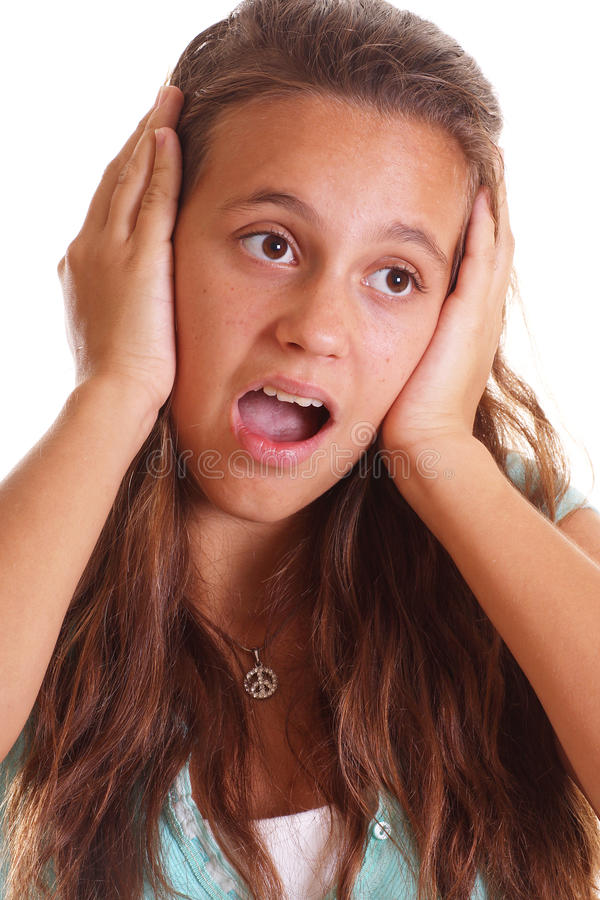 Teen holding ears