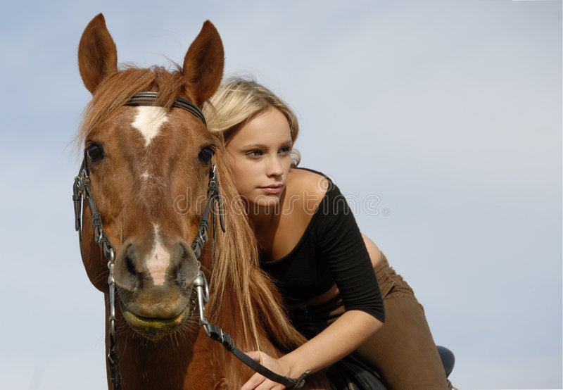 Teen And Horse Royalty Free Stock Photography