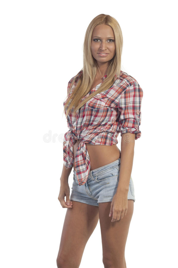 Download Teen in jeans shorts stock photo. Image of model, portrait - 32537080