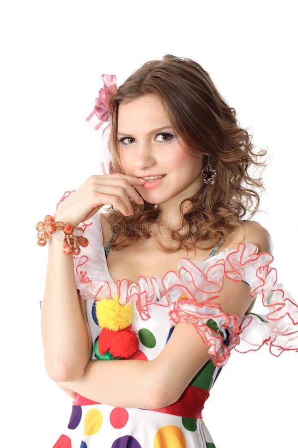 teen klänningflickadeltagare royaltyfri bild