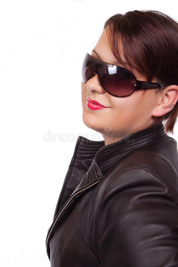 Download Teen in leather jacket stock image. Image of fashion - 11903333