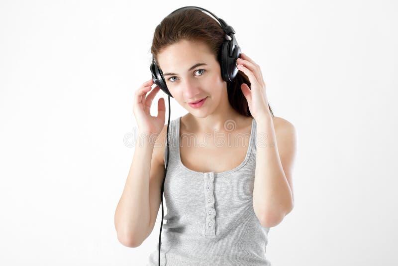 Teen listening music
