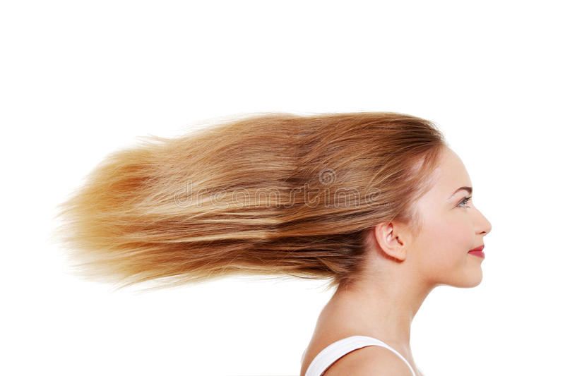 Teen with long hairs
