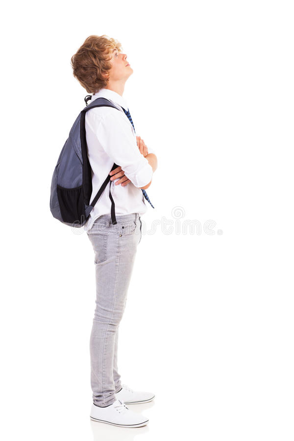 Download Teen looking up stock photo. Image of adult, look, adolescence - 29698846