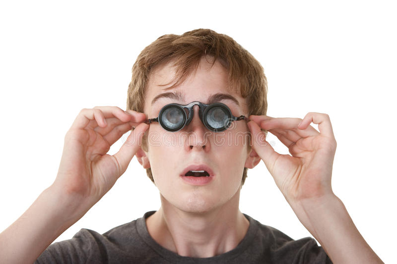 Download Teen WIth Loupe Glasses stock image. Image of people - 20924177