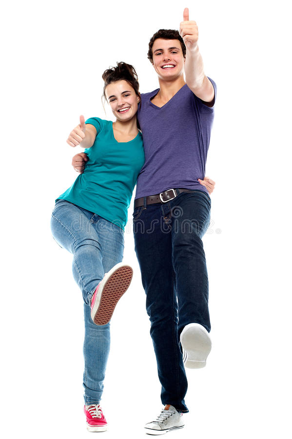 Teen Love Couple Enjoying Themselves Stock Photo