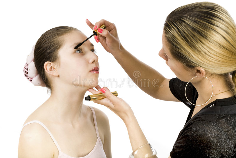 teen mascara royaltyfri fotografi