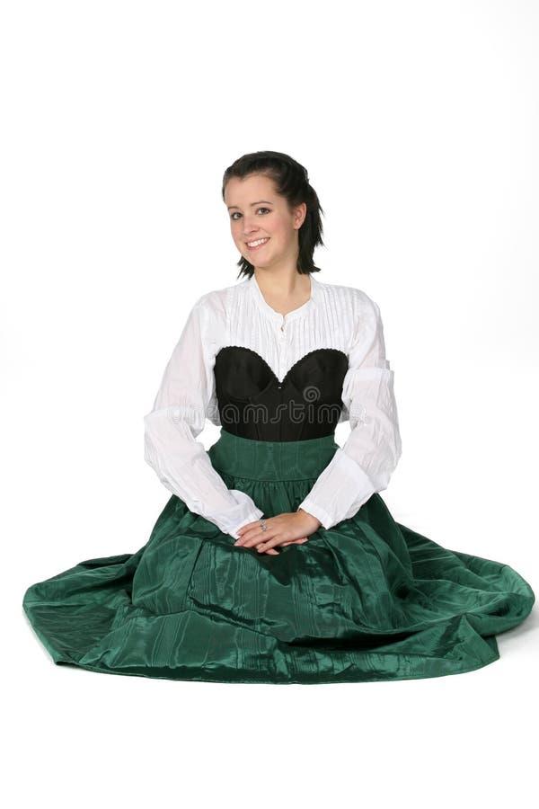 teen medeltida nätt stil för klänning royaltyfri foto