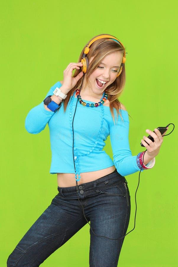 Teen music headphones stock images