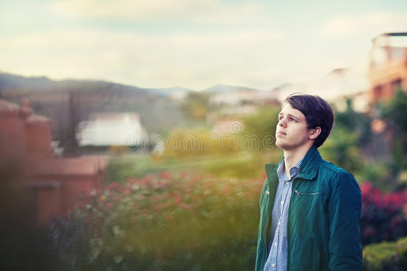 teen outdoors royalty free stock photography