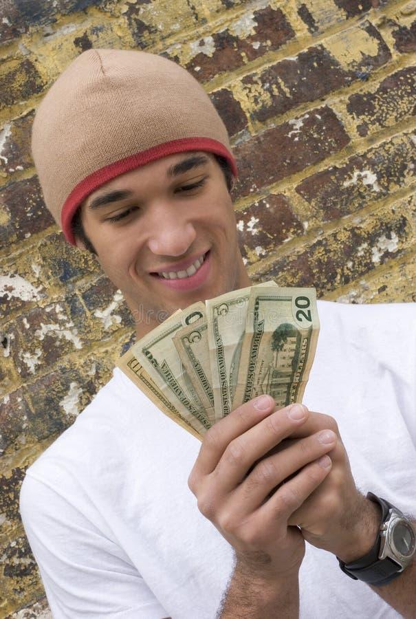teen pengar arkivbild