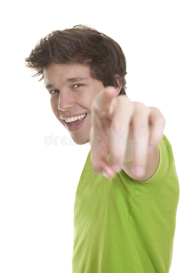 Download Person pointing stock image. Image of handsome, male - 29935877
