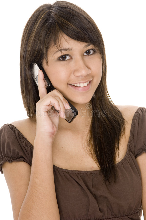 Teen On Phone 1 Royalty Free Stock Images